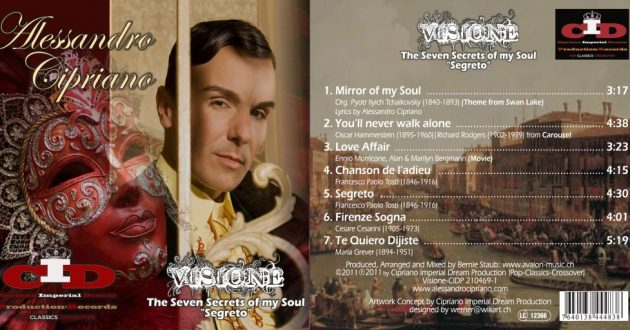 CD Cover and Tracklist, Visione by Alessandro Cipriano|Crossover-Classic