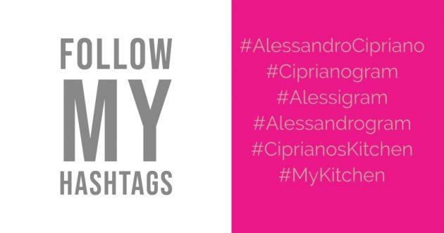 Folgen Sie meinen Hashtags Alessandro Cipriano